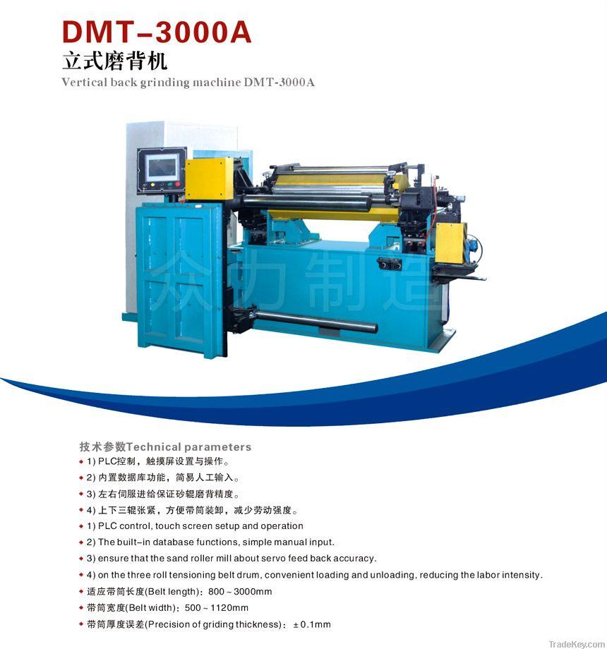 Vertical back grinding machine