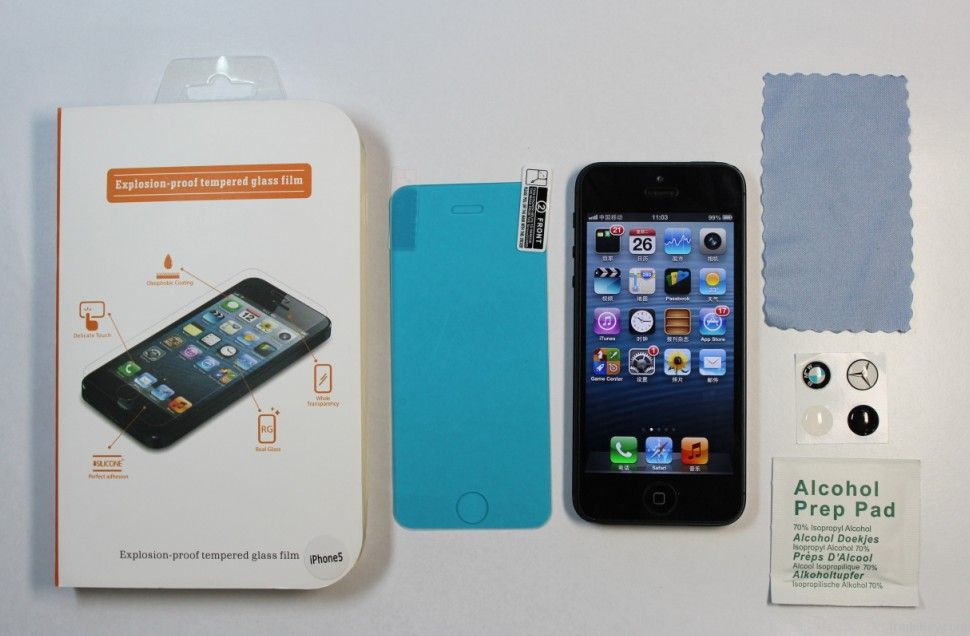 explosion proof tempered glass screen protecotor/films for iphone 5