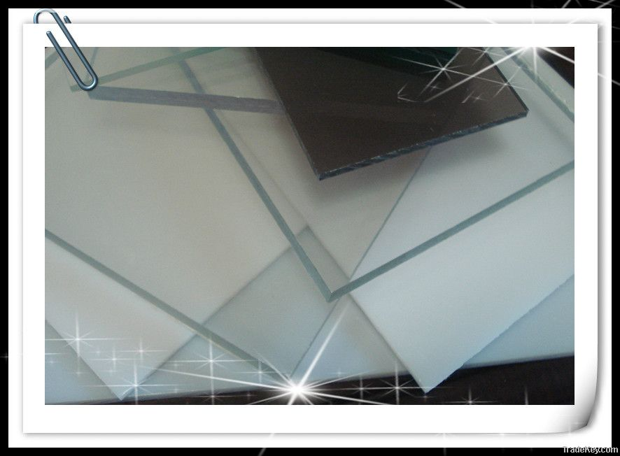 transprent polycarbonate solid sheet for indoor decoration