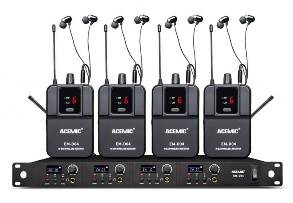 EM-D04(Four Channel)  Four Channel Wireless In-Ear Monitor System