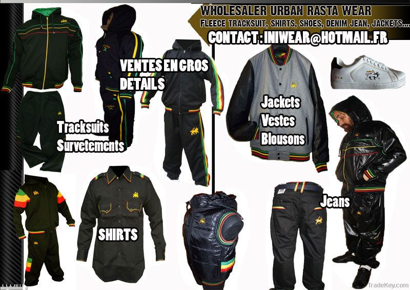 wholesale rasta clothing rasta tracksuit