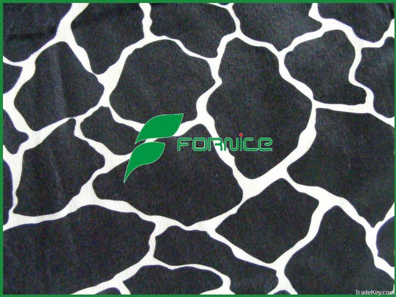 100% polyester animal print velboa