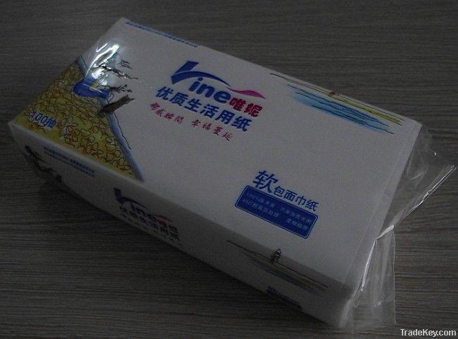 Eco-friendly virgin wood pulp facial tissue paper