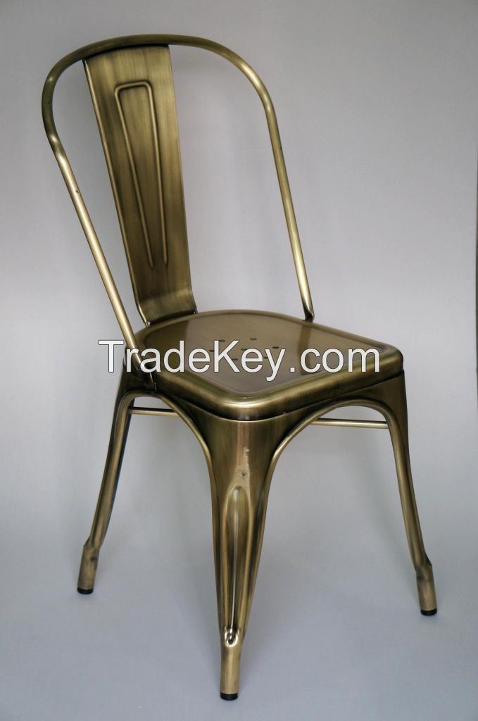 TW8001(Brush copper) Metal Tolix Side Chair