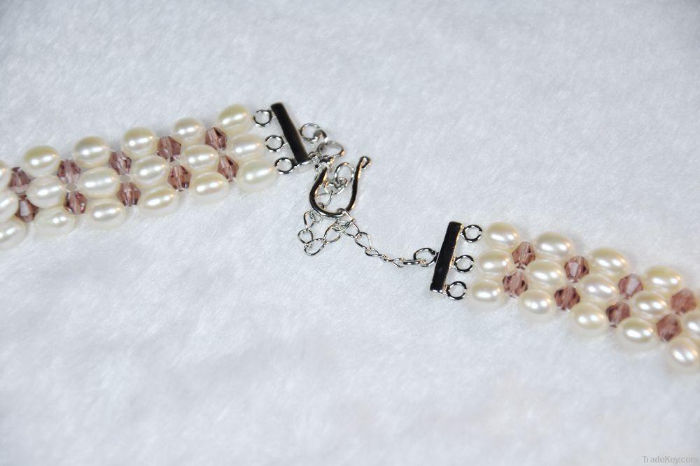rice, alloy chain freshwater bali pearl jewelry fashion