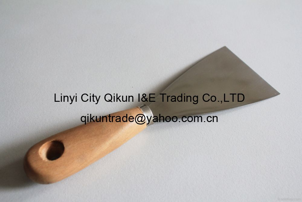 Putty Knife W/Wooden Handle Mirror Polished