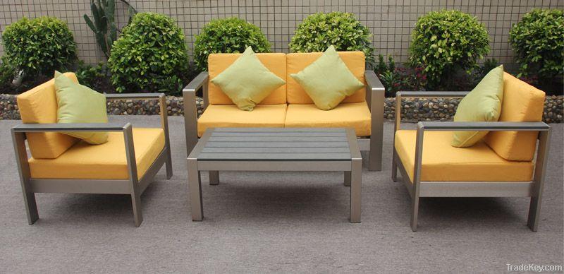 Aluminum sofa set for outdoor use