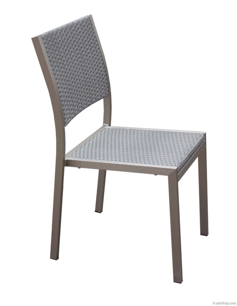 Outdoor dining chair-aluminum and PE rattan chair