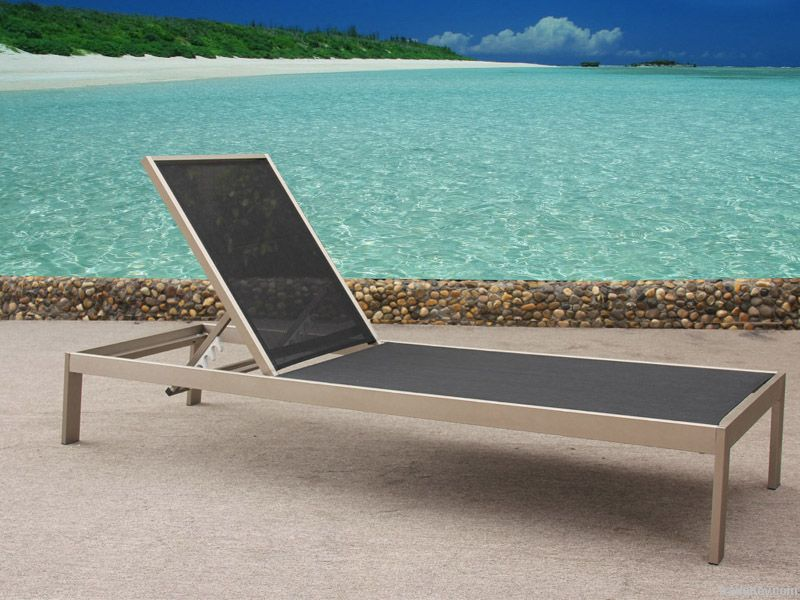 Teslin sun lounger for outdoor use