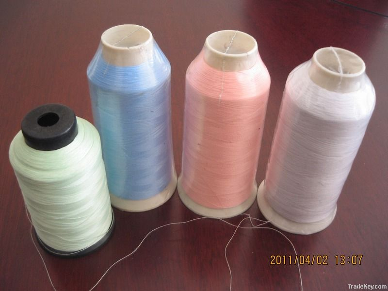self luminous luminescent thread yarn fabric glow in the dark