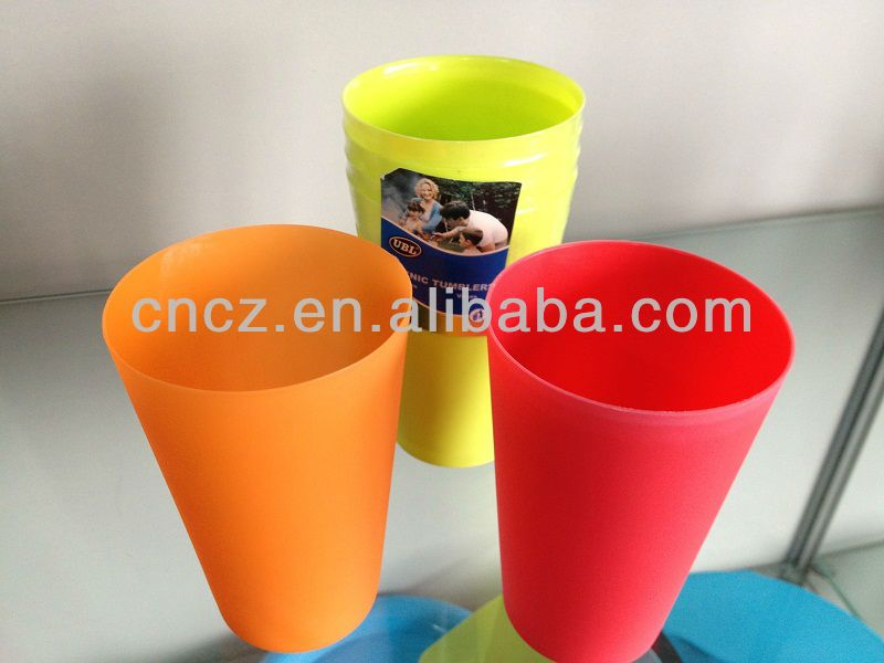 food grade PP plastic drinking large size mugs