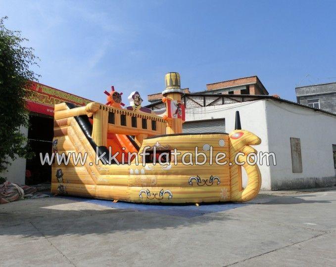 new design inflatable dry slide for rental