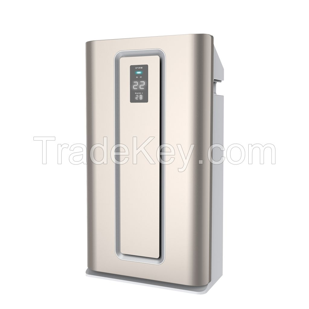 Home air purifier made in china with hepa filter with active carbon with dc motor