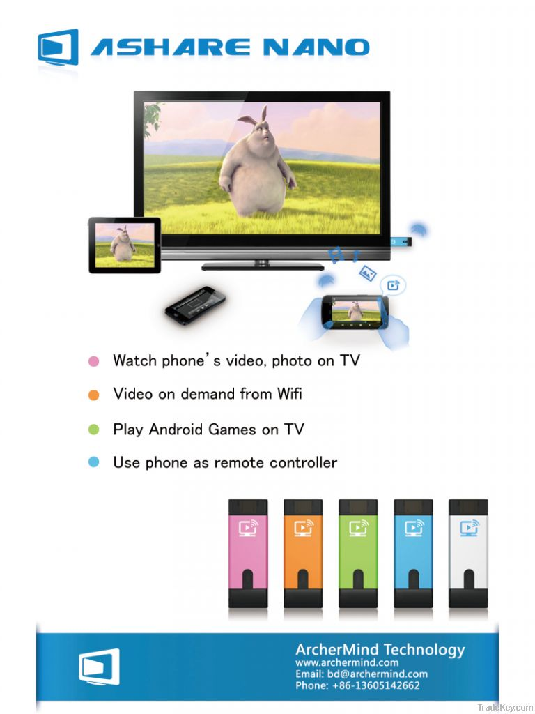 TV dongle as well as phone accessory