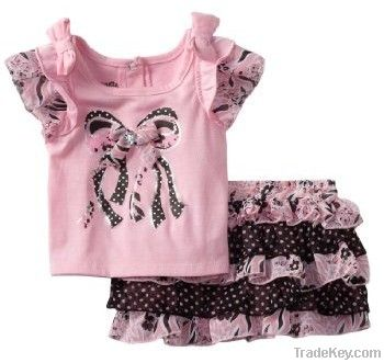 Cool summer, children clothes , girl suit, kid clothing