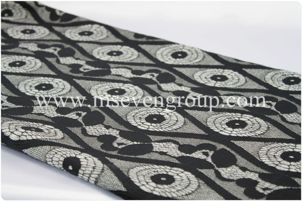 100% Nylon fabric with lace/lace Composite fabric/ laminate fabric/printed fabric for women dresses