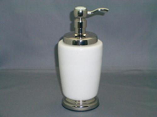 Ceramic with Brass Soap Dispenser