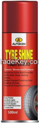 durable tyre shine tire shine foaming spray tyre shine