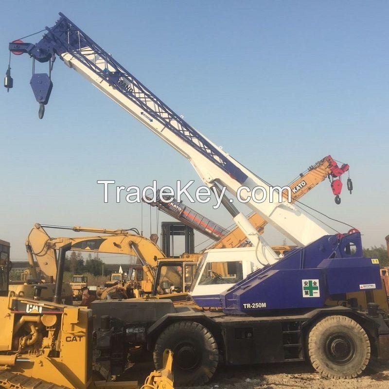 Used Tadano TR250M 25ton rough terrain Crane