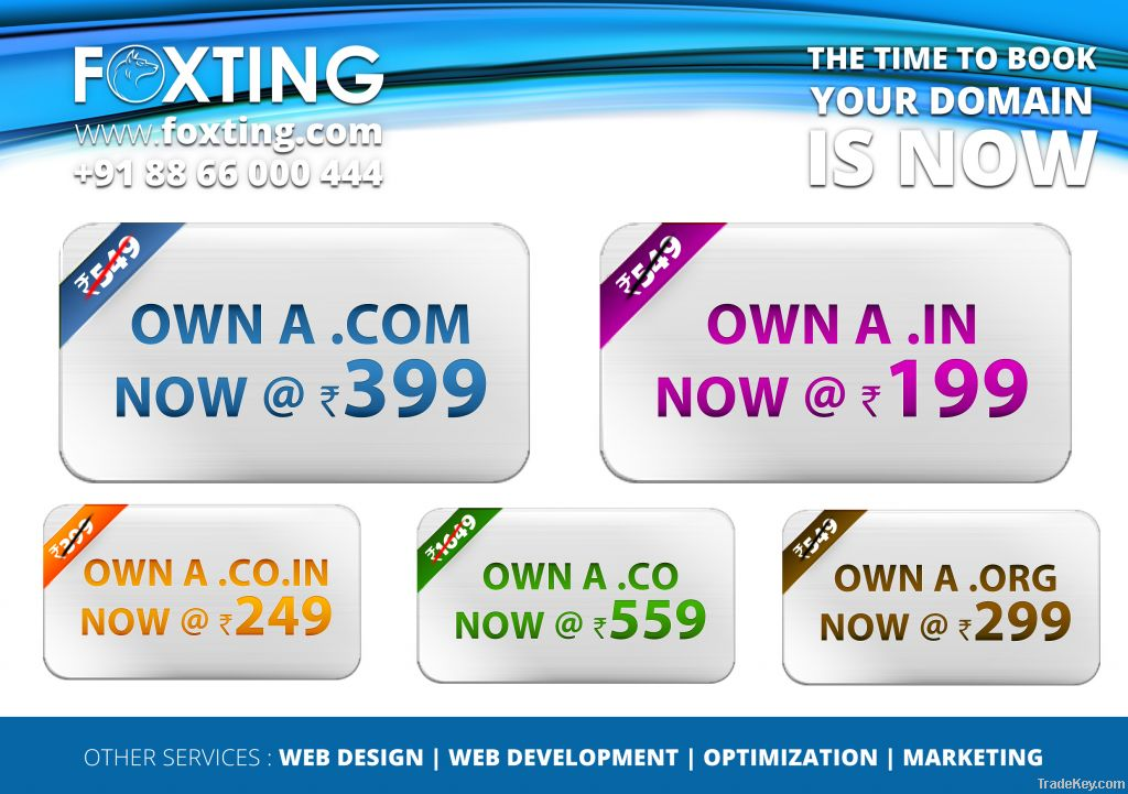 Domain registration and purchase