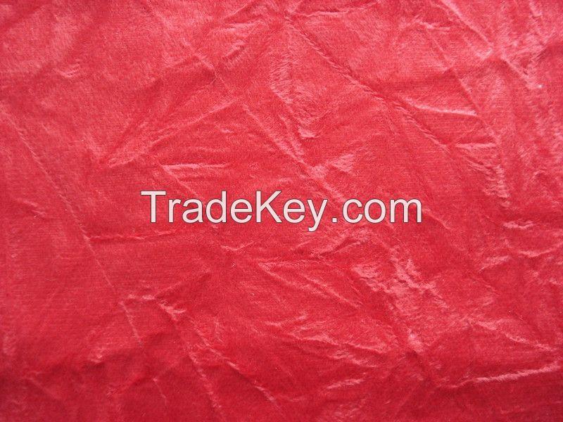 Crumple Polyester Velvet for Sofa Covers