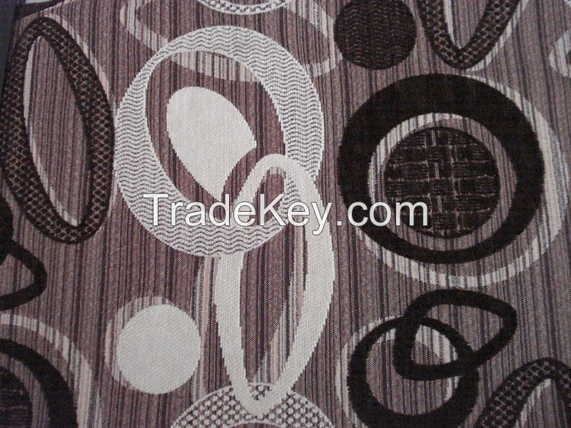 Jacquard Chenille Polyester Fabric for Home Decoration