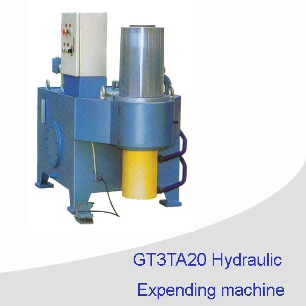 Hydraulic expanding machine for pail can making