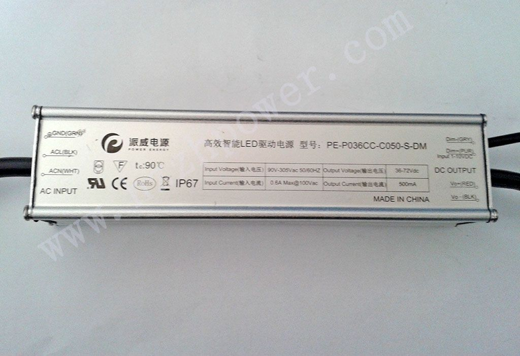 36W LED Driver/applied to LED Street light, LED tunnel light