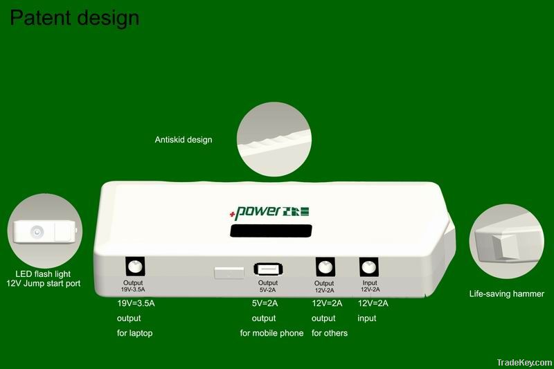 Patent Multifunction Jump Starter(power bank with life-saving hammer