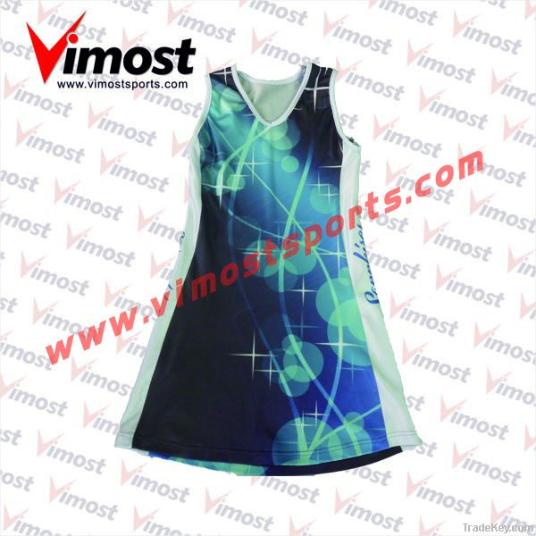 custom netball dress