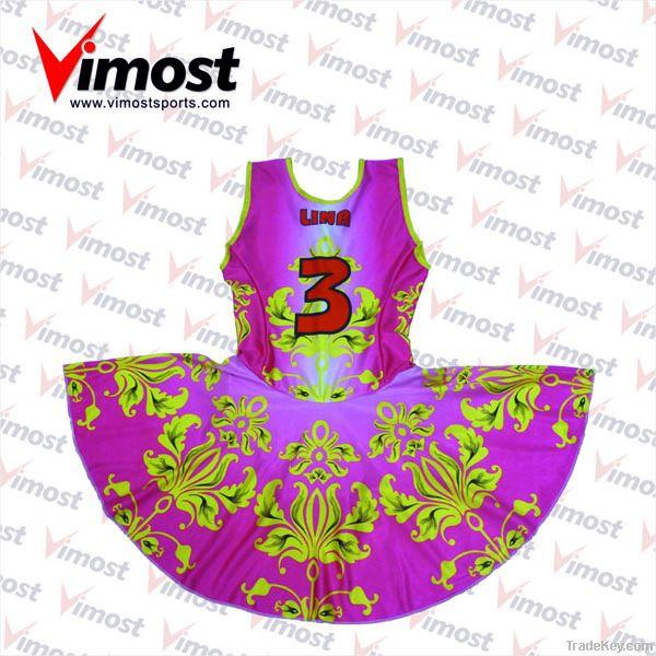 custom netball wear, netball dress with sublimation