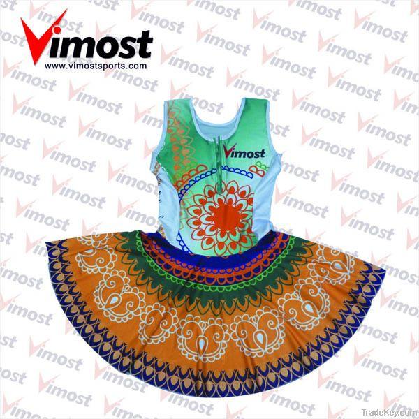 custom netball wear, netball dress with sublimation , OEM
