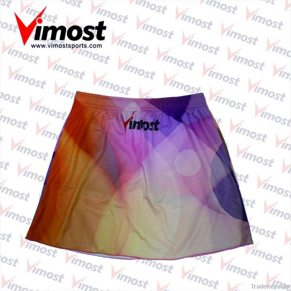 custom netball skirt with sublimation