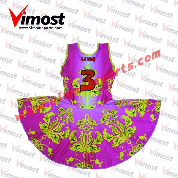 Custom flower pattern netball dress