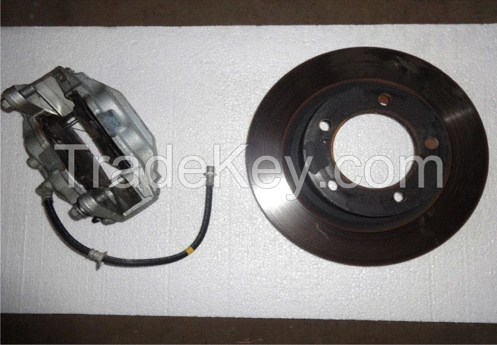 Brake disc front and front brake caliper with cable Toyota LC200