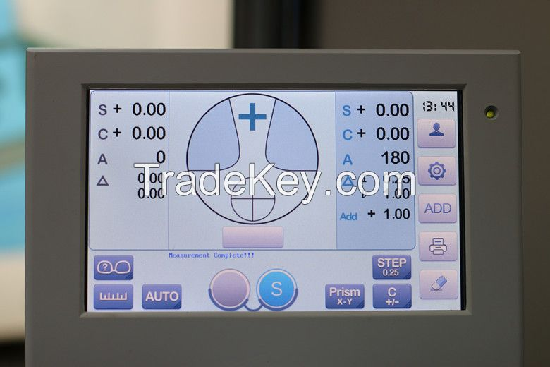 Optical Digital Touch Screen Auto Lensmeter with Green light Beam Measurement