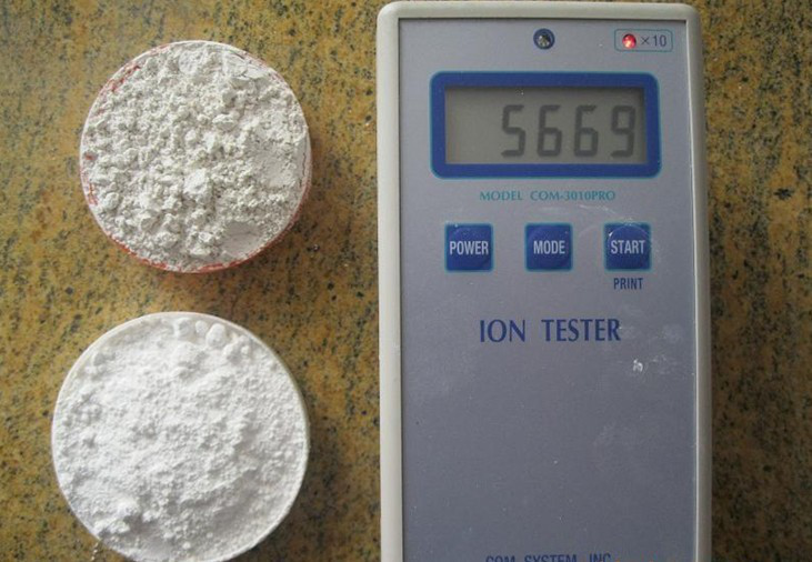 Negative ion powder
