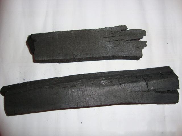 Machine--made charcoal