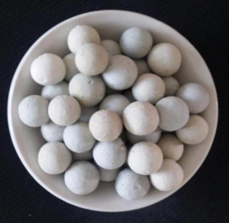 Fiber ball filter material