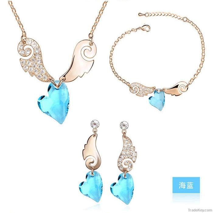 Lovely Cute Angel Wings Jewelry Set for Pretty Girls