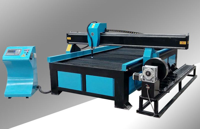 CNC Plasma Cutting Machine with 4th Rotary axis for both sheet and pipe