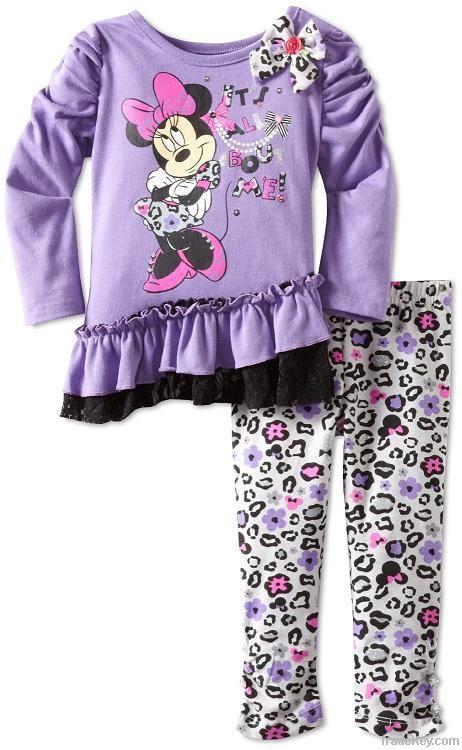 hot sale fashion design children clothing set, kids clothes