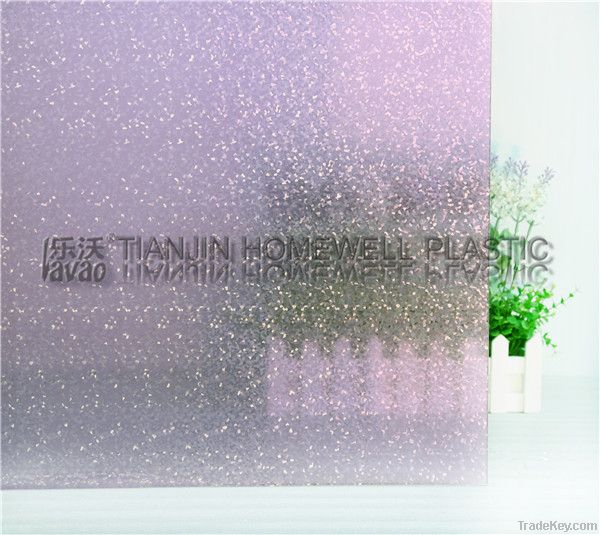 2D embossing static window film