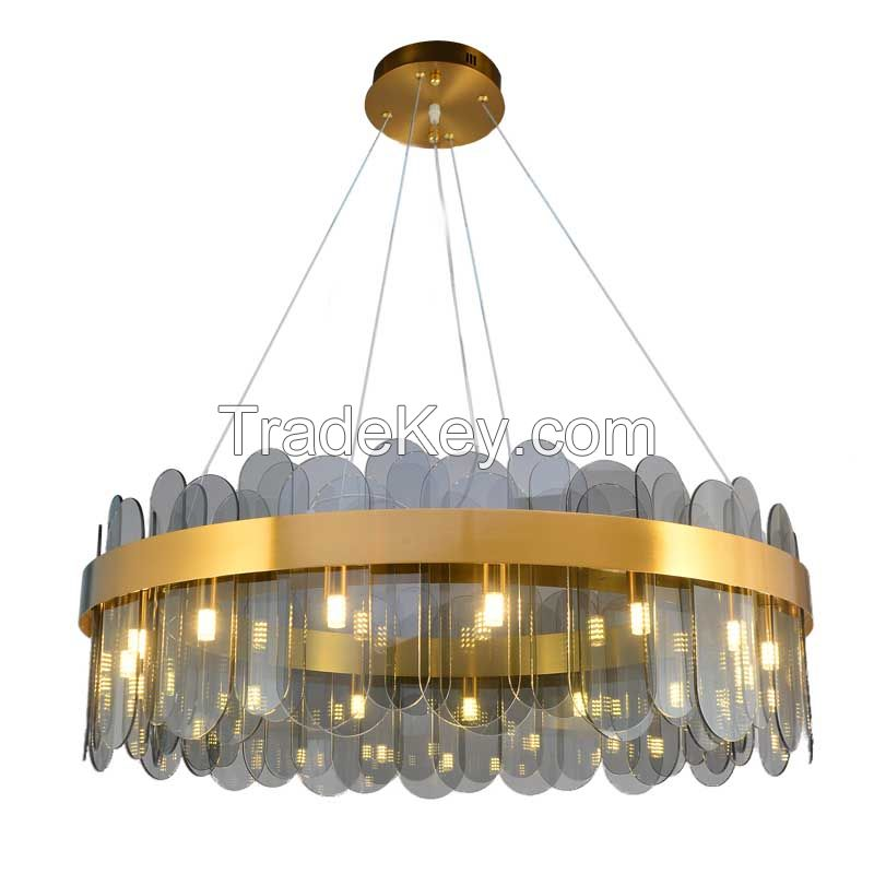 Luxury contemporary Indoor living room hotel lobby modern crystal chandelier pendant lights