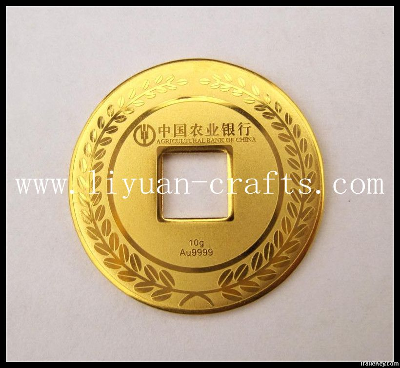 gold metal coin