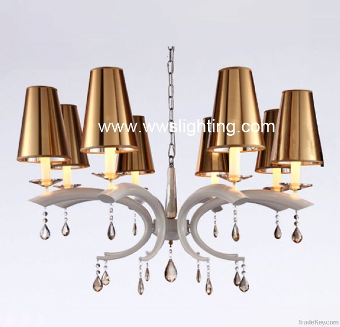 Modern Iron crystal chandelier-crystal pendant lamp-project light