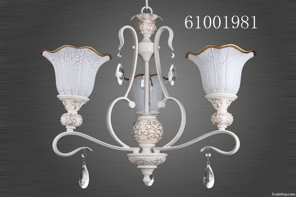 European style chandelier-resin and iron crystal pendant light