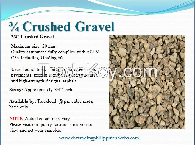 3/4 Washed Crushed Gravel