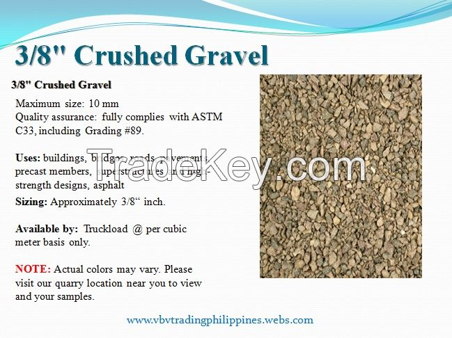 3/8 Washed Crushed Gravel
