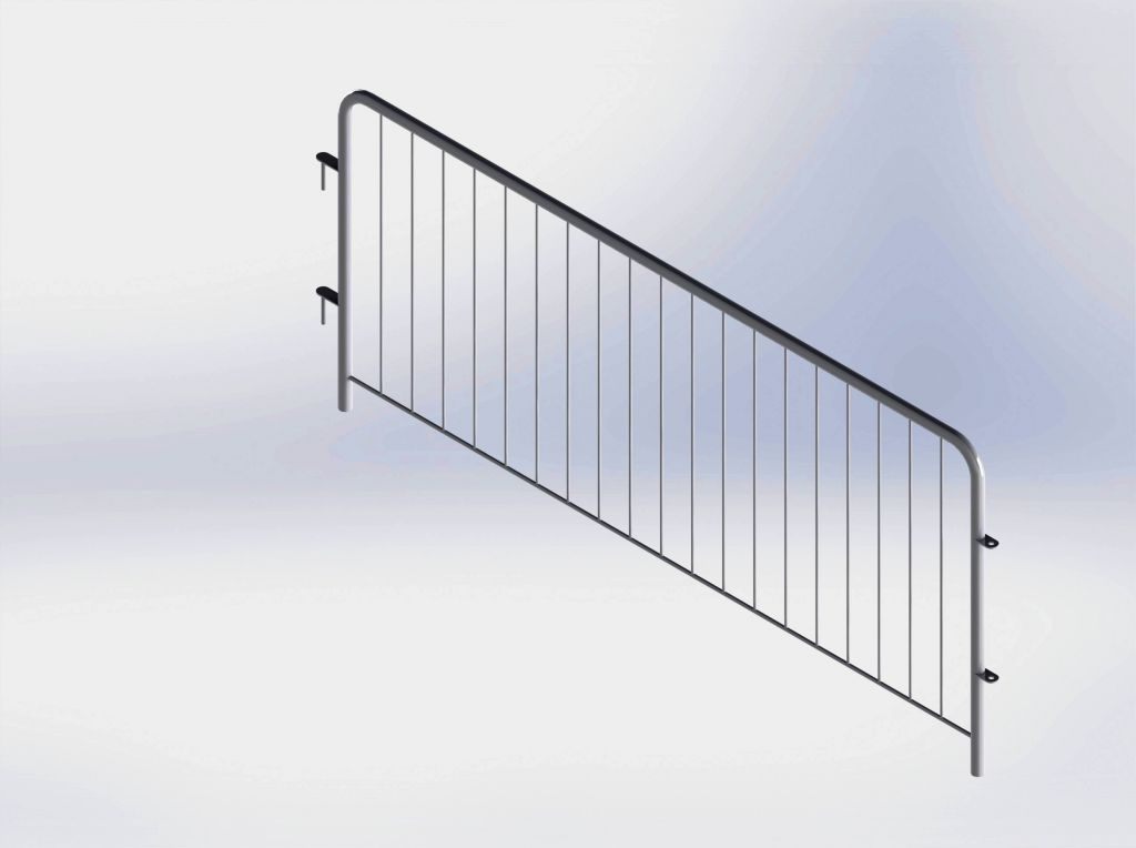 crowd control steel barrier ( hot dip galvanized )